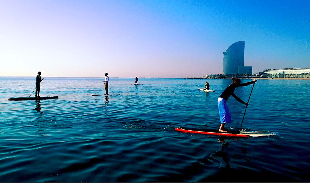 PADDLE SURF PER ADDIO AL CELIBATO A BARCELLONA